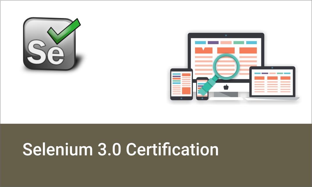 Selenium 3.0 Certification Training